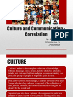 Culture and Communication - Correlation
