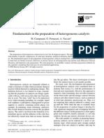 Fundamentals in Preparation of Heterogeneous Catalysts
