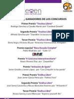Palmarés Ganadores Publicatessen 2011