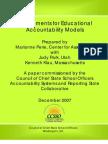 R-Key Elements for Educational Accountability Models