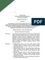 Permendiknas No 46 Tahun 2010 POS Ujian Nasional 2011