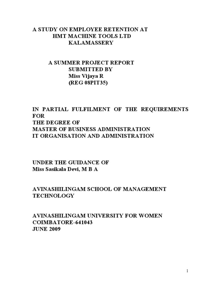 Dissertation report download