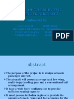 Design of the Subsonic Passenger Aircraft