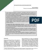 - Artigo - CHARLOT O enfoque qualitativo nas políticas educativas