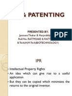 Ipr and Patenting