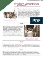 100 Years of Cinema Loudspeakers