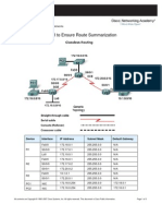 4. Using CIDR to Ensure Route Summarization