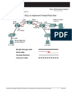 12. Developing ACLs to Implement Firewall Rule Sets