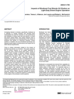 Impacts of Biodiesel Fuel Blends Oil Dilution On