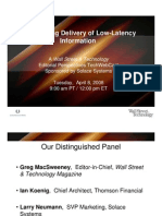 Thomson low latency-metadata presentation