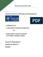 Change Management Amarjeet Assignment