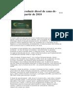 Brasil Vai Produzir Diesel de Cana