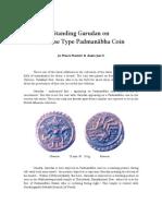 Standing Garudan on Tortoise Type Padmanabha Coin
