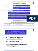 Tema IV 1 Introduccion Comunicaciones Digitales Ver0