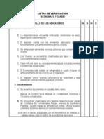 Listas verificación revistas inspección