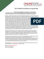 www.onlinetexte.com - Pressemeldung 2011-16 - Für anspruchsvolle Artikelverzeichnisse ist geschenkt immer zu teuer