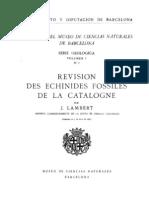 Revision des Echinides Fossiles de la Catalogne