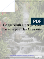Ce qu'Allâh a préparé au Paradis pour les Croyants