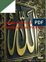 L'explication de quelques Sublimes Noms d'Allah.