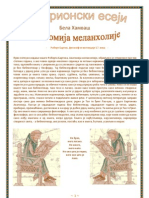 Bela Hamvas - Anatomija Melanholije