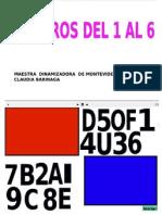 Numeración ( 1 al 6)