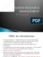 Human Resource Management introduction (HRM Intro)