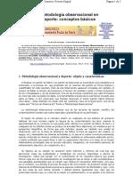 Metodologia Observacional en El Deporte
