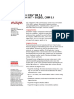 Siebel 8.1 Integration With Avaya IC 7.2