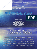 Presentacion de Transform Ada Inversa de Laplace