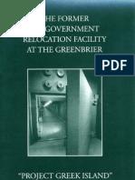 Greenbrier Bunker Tour Brochure (1998)
