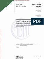 NBR 15015 - Garçom em função polivalente