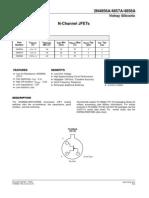 Vishay Siliconix 2857A JFET Datasheet