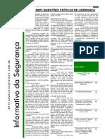 3ª Edição - Informativo da Segurança Abril/2011