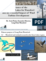 Importance of the Lower Great Lakes for Waterfowl and the Potential Impact of Wind Turbine Development