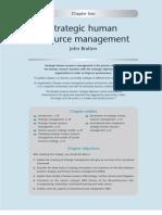 Bratton Strategic Human Resource Management