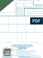 FBI FP card