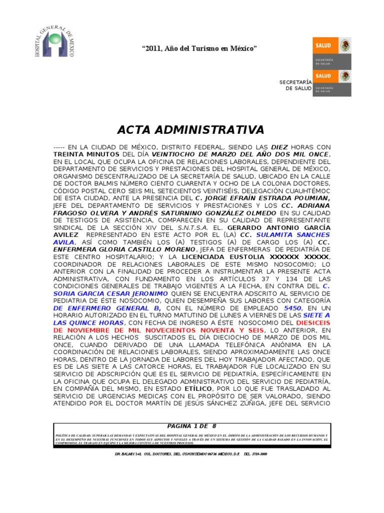 Acta administrativa 2 for Oficina de empleo por codigo postal