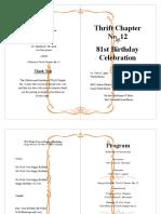 T12 Birthday Program