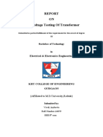 Hv Testing of Transformer