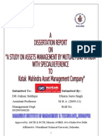 Dissertation Report of Mutual Funds