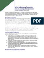 Hong Kong Company Formation for Entrepreneurs