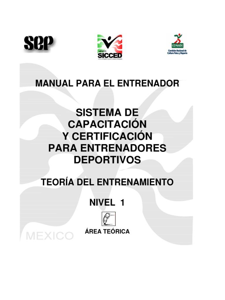 Manual Del Nivel 1 Area Teorica Sicced