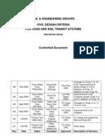 싱가폴 LTA-Civil Design Criteria