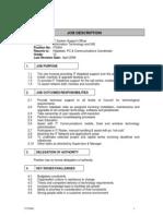 IT System Support Officer IT0004 Job Description