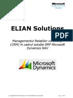 Elian Solutions - ERP Microsoft Dynamics NAV - Modul Managament Relatii Clienti (CRM)