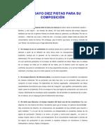 El Ensayo Diez Pistas Para Su Composicin - Eduardo Solarte