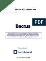 Informe de Valorización Interinvest