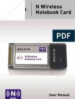 Belkin N Wireless Notebook Card Manual f5d8013 v 1000