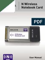 Belkin N Wireless Notebook Card Manual f5d8013 v 1000