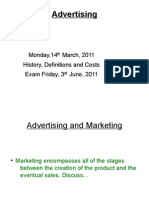 Advertising Lecture 1 - Introduction